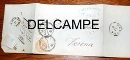 Courrier Envoyé De Wien à Verona 1866 - ...-1850 Prefilatelia