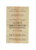 Affichette :Cercle D'escrime De Flers  -Championnats De Sabre Et D'épée De Normandie Du 2 Mai 1943 - Verso = Résultats - Programmes