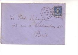 Convoyeur  Paray à Montchanin 1°  Saône Et Loire 1923 - Postmark Collection (Covers)