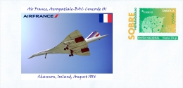 SPAIN, 2015 Air France, Aerospatiale-BAC Concorde 101  Shannon, Ireland, August 1984 - Concorde