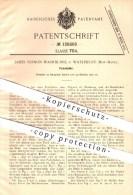Original Patent - James Vernon Washburne , Waterbury , New Haven , 1900 , Federhalter , Feder , Schreibfeder , Schreiben - Historical Documents