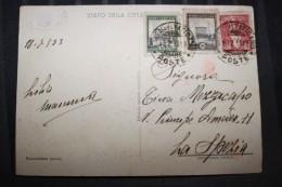 PP - VATICAN - Timbres Obliterations Sur Cartemedaglia Commemorativa Del Nuovo Ingresso E Scala... - Lettres & Documents