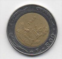 "SAN MARINO 1989  500 Lire ""Il Santo Tagliapietre"" Alfa SM 375  QFDC - San Marino"
