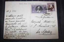 PP - VATICAN - Timbres Obliterations Sur Carte Pinotecca Vaticana - Facciata Principale Dai Giardini - Lettres & Documents