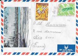 Enveloppe Adressée à L'Hôtel Maccarani à Nice 1977 - Luftpost