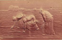 Fantaisie - CPA - LES GLANEUSES D'après MILLET - Carte Gauffrée - Peintures & Tableaux