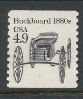 USA 1985 Scott # 2124. Transportation Issue: Buckboard 1880s, MNH (**). - Coils & Coil Singles