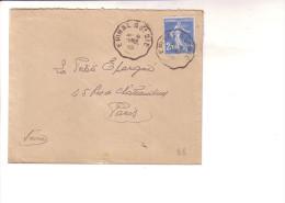 Convoyeur Epinal à St Dié Vosges 1925 - Marcophilie (Lettres)