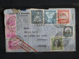 Chili - Lettre (cover) Poste Aerienne Vers La France - 1937 - Chili