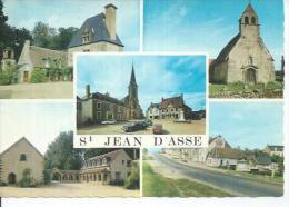 ST JEAN D´ASSE ( 5 VUES ) MONUMENT AUX MORTS - LA ROUTE N. 138 VERS ALENCON... - France