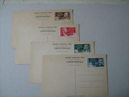 A E F NO 140A/140D    ARRIVEE DU GENERAL DE GAULLE A BRAZZAVILLE  LES 4 CARTES SUIVANT LIBELLE YVERT ET TELLIER - Unused Stamps