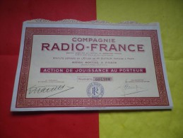 RADIO FRANCE - Shareholdings