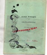 87 - CHATEAUPONSAC - CAHIER ECOLE PUBLIQUE DIRIGEE PAR MME DELAGE-1935- LUCIE ARDELLIER- H. ADAM POITIERS - Buvards, Protège-cahiers Illustrés
