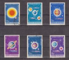 1981 - Alignement Rare Des Planetes Mi 3795/3800 Et Yv P.A. 269/274 - Usado