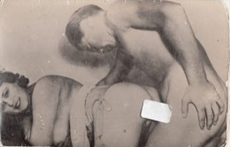 PORNOGRAPHY-NUS-NU-NUDO-NUDI-NAKED-SEX-FOTO MANIPULATION CAUSE VERY OLD CARD-2 SCAN - Otros