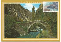 ANDORRE.  Le Pont Roman De Sant Antoni. Une Carte-maximum - Ponti