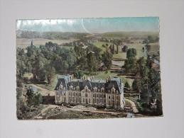 Carte Postale Ancienne : En Avion Au-dessus De RADEPONT : Le Chateau - France