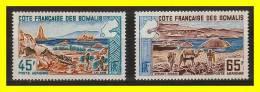 Tourisme - Timbre PA N°43/44  -  Sites  -  Côte Des Somalis - Somalie (1960-...)
