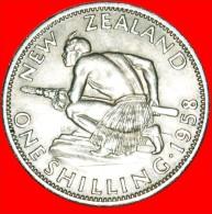 ★DRESSED QUEEN: NEW ZEALAND ★ SHILLING 1958! LOW START ★ NO RESERVE! - Nouvelle-Zélande
