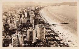 SANTOS (Brasil) - Vista Parcial, Fotokarte (Kleinformat) Gel.1964, Seltene 3 Fach Frankierung - Ohne Zuordnung