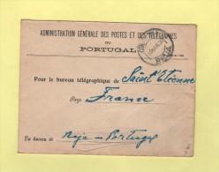 Reja Portugal - Courrier En Franchise Pour Le Bureau Telegraphique De St Etienne - 1936 - Marcophilie