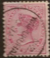 NZ 1882 1d QV Pmk Waipukurau SG 195 U #QM221 - 1855-1907 Crown Colony