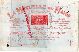 72 - LE MANS - BUVARD LA MUTUELLE DU MANS- AIM- INCENDIE- 37 RUE CHANZY - - Banque & Assurance