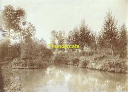ANCIENNE PHOTO ALBUMINE EPREUVE POUR CPA  HAL HALLE BORDS DE LA SENNE - Halle
