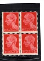 REGNO 1929 - IMPERIALE CENT 20 IN QUARTINA - NUOVA MNH** - 1900-44 Victor Emmanuel III.