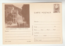 1968 ROMANIA Illus BAILE HURCULANE  Postal STATIONERY CARD Cover Stamps - Postal Stationery