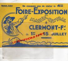 63 - CLERMONT FERRAND - BUVARD 4EME FOIRE EXPOSITION DU MASSIF CENTRAL DU 1ER AU 15 JUILLET - - Löschblätter, Heftumschläge
