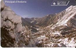 AND-122 TARJETA DE ANDORRA DE MONTAÑAS NEVADAS (MOUNTAIN) - Andorra
