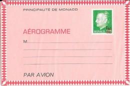Principauté De MONACO - Aérogramme (Surcharge) - Ganzsachen