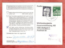 Karte, Heinemann + Brandenburger Tor Berlin, Oppenweiler Nach Stuttgart 1971 (81872) - Storia Postale