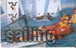 MAN-180 TARJETA DE LA ISLA DE MAN DE SAILING (VELA) - Isla De Man