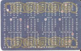 MAN-125 TARJETA DE LA ISLA DE MAN DE UN CALENDARIO DEL 1998 - Isla De Man