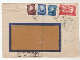 1949 REGISTERED ROMANIA Stamps COVER - 1948-.... Republics