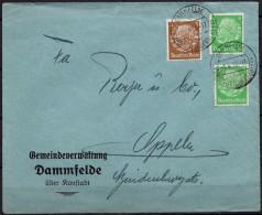 Polen -1938-Deutsches Reich Brief  DAMMFELDE / KONSTADT, Polen 1.4.1938 - Besetzungen 1938-45