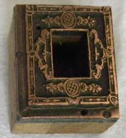 Ancien Tampon Imprimerie Bois & Cuivre  Cadre Vide Au Centre - Autres Collections