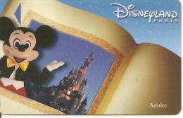 PASS--DISNEY-DISNEYLAND PARIS-2000-MICKEY-- ADULTE-V°NARBONI-01/06/MIC-TBE - Pasaportes Disney