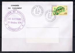 Congrès Du Parlement, Versailles, 21/10/1974 - Gedenkstempels