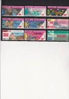 LOT DE 9 TICKETS T.C.L.LYON  -ANNEE 1994-95 - Bus