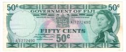 Fiji, 50 Cents,  VF+, FREE SHIP TO USA. - Fidji