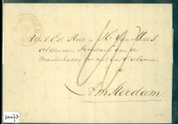 POSTHISTORIE * HANDGESCHREVEN BRIEF Uit 1857 Gelopen Van VLISSINGEN Naar AMSTERDAM (10.073) - Pays-Bas