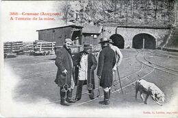 12. AVEYRON - CRANSAC. A L'Entrée De La Mine. - Andere Gemeenten