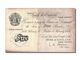 Grande Bretagne, 5 Pounds Type 1956 - 1952-… : Elizabeth II