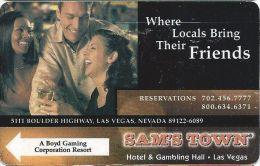 Sam's Town Casino Las Vegas Hotel Room Key Card - Hotel Keycards