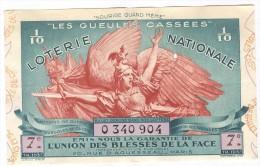 Billet Loterie Nationale -1937 - Les Gueules Cassées - 7ème Tranche - Billets De Loterie