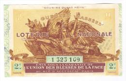 Billet Loterie Nationale -1938 - Les Gueules Cassées - 2ème Tranche - Billets De Loterie