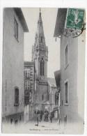 VALFLEURY - RUE DE L' EGLISE AVEC PERSONNAGES - LEGER PLI ANGLE EN BAS A GAUCHE - CPA VOYAGEE - Autres Communes